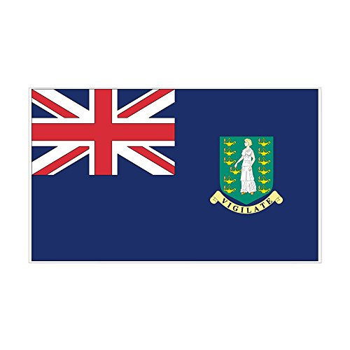 CafePress - British Virgin Islands Rectangle Sticker - Rectangle Bumper Sticker Car Decal