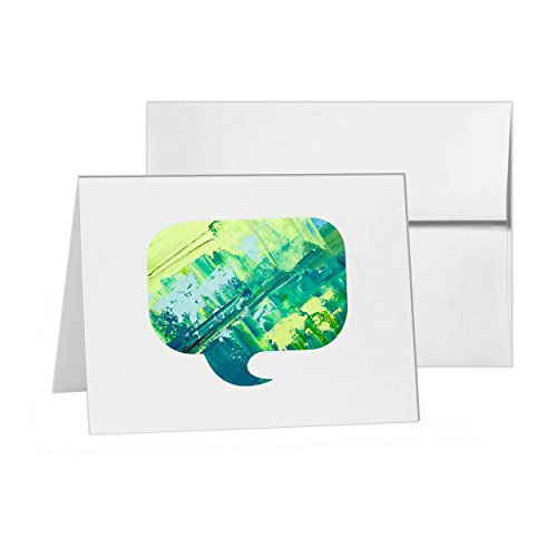 Chat Talking Speech Bubble Speaking, Blank Card Invitation Pack, 15 cards at 4x6, Blank with White Envelopes Style (Talking Bubble)