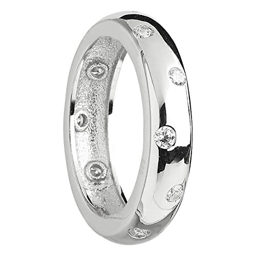 Etoile Ring in Sterling Silver and White CZ Size : 5 Etoile Band