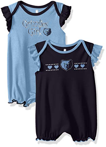 Outerstuff NBA NBA Newborn & Infant Memphis Grizzlies Homecoming 2pc Bodysuit Set, Dark Navy, 18 ()