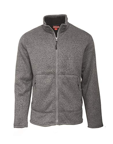 (Coleman Full Zip Pullover for Men Sweater Fleece Comfy and Cool (Small,)