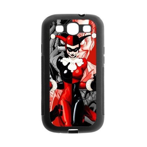 Fayruz- Protective Hard TPU Rubber Black Case Cover for Samsung Galaxy S3 S III I9300 - Joker and Harley Quinn