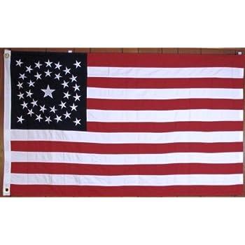 amazon com 34 star american civil war flag cotton circular