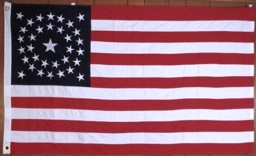 (34 Star, American Civil War Flag...COTTON, Circular)