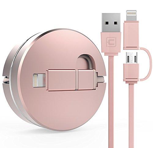 7 opinioni per DolDer 2-in-1 Cavo USB retrattile con connettore micro USB e 8-pin Lightning 1