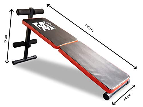 Fit4home F4H ES-514 Folding bench, Sit Up Bench ab trainer Abdominal Ab Crunch exercise Ab belt. Similar to weights bench/ weight bench