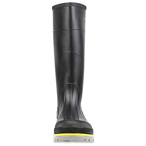 Honeywell Safety 75109-10 Servus XTP Chemical Resistant Men's Safety Hi Boot, Size-10, Black/Yellow/Grey - Image 1