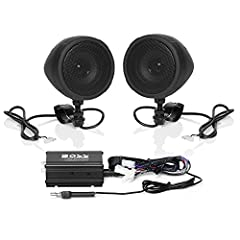 "Max out your playlists while you ride the roads or the trails with the Boss Audio MCBK420B Black Weatherproof Motorcycle Sound System. Power up your music on your 12V Motorcycle, Scooter or ATV with the 600 Watt Max Power Amp and a pair of 3""..."