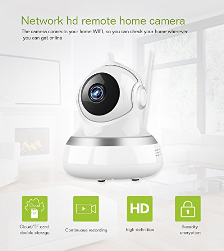 Wifi Camera - Wireless IP Camera with Two-way Audio, Night Vision Camera, 2.4GHz & 720P Camera for Pet Baby Monitor, Home Security Camera Motion Detection Indoor Camera (white)