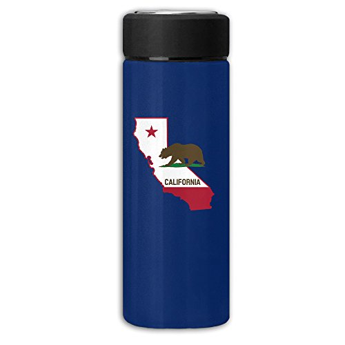 Califonia Republic With State Map Business Travel Thermal Mug Vacuum Insulated Cup For Hot And Cold Drinks Coffee Tea 12oz