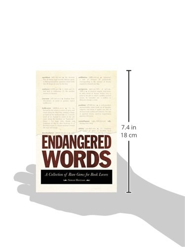 Endangered Words: A Collection of Rare Gems for Word Lovers by Skyhorse Publishing