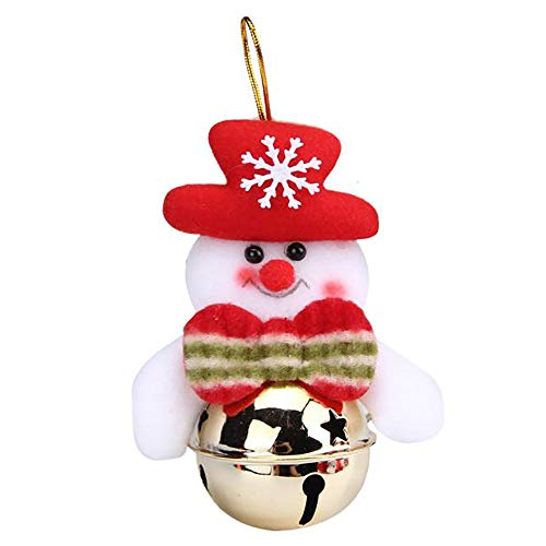 (Christmas Decoration, Christmas Ornaments Gift Santa Claus Snowman Christmas Tree Bell Hang Decorations (D))