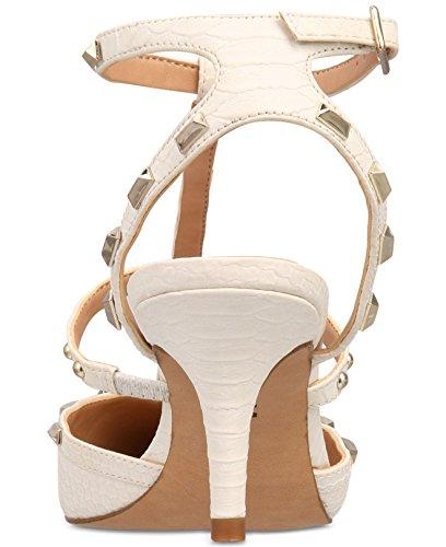 Inc Concepts Internationale De La Femme Bride À La Cheville Orteil Carma Pointue D-orsay Pompes Blanc Brillant