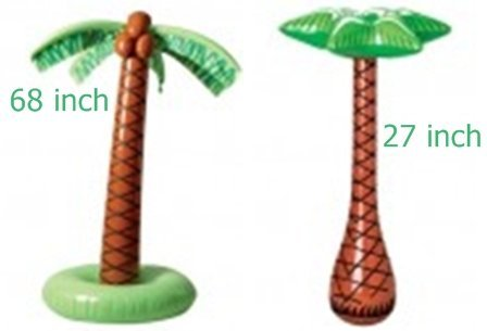 Inflatable Luau Palm Trees- Set of 2 - One Large 68 Inch and One Small 27 Inch by happy - Coconut Palm