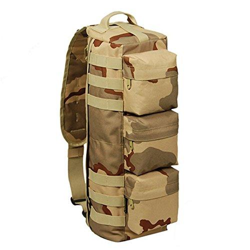 Mefly Mochila Militar, Hombre De Bolsa De Equipaje Equipo Hombro Pack 20L Big Cp sand