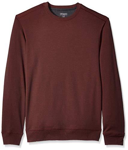 Fleece Crewneck Pullover - Van Heusen Men's Flex Sweater Fleece Crewneck Pullover Sweatshirt, Red Merlot, XX-Large