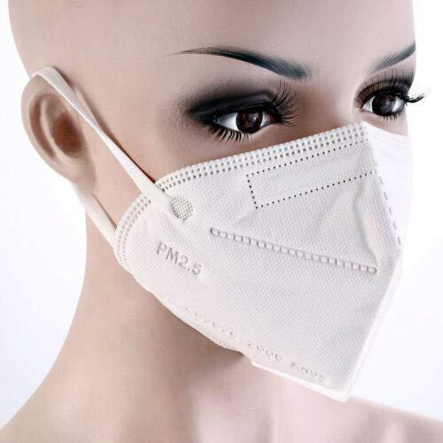 5 Pcs KN95 Mask pm2.5 4-Layer KN95 Face Mask Adult Respirator Face Masks Medical Reusable Mouth Mask