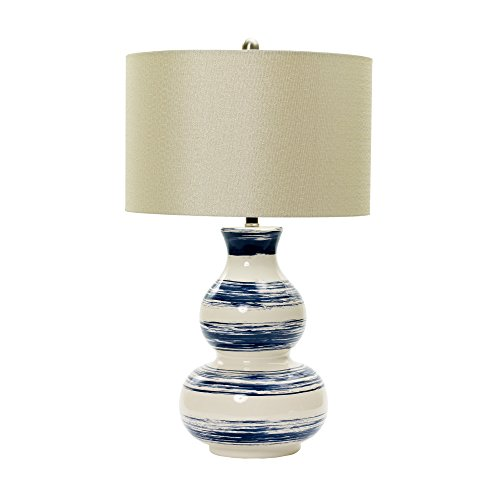 m.r. lamp and shade W-MR8929 Striped Ceramic Table Lamp, 28