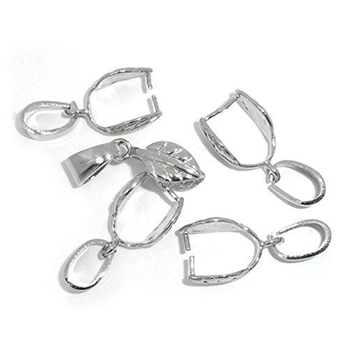 Housweety Bijoux Accessoires -10 Fermoirs Pince + Beliere 28x11mm