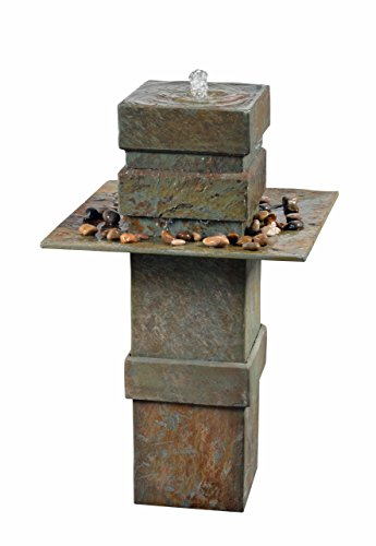 Kenroy Home 51049SL Pilaster Floor Fountain, Natural Slate