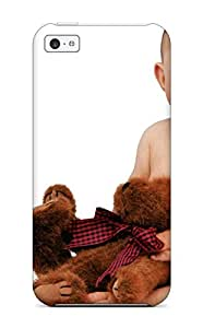 Chad Po. Copeland's Shop Iphone Cover Case - Cute Baby With Teddy Protective Case Compatibel With Iphone 5c
