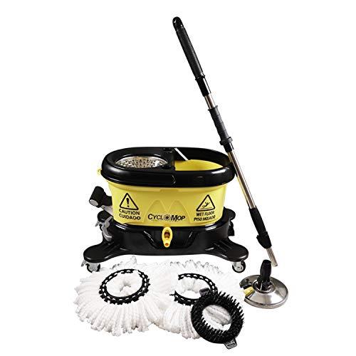 Draagbare keukenvloerreinigingswasser – Heavy Duty Microfiber Turbo Spin Mop & Bucket Set – 360 Dual Roterende Wringer…