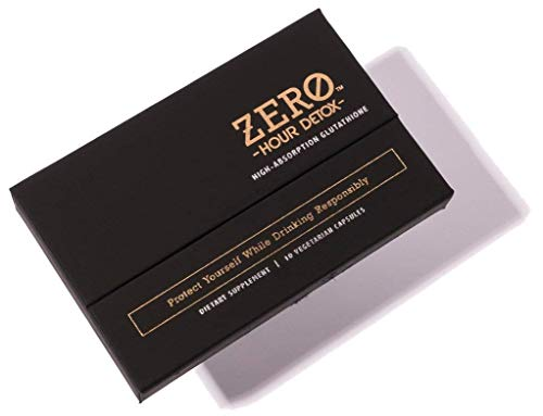 Zero Hour Detox 10 Count - Minimizing The Effects of a Hangover, Glutathione Supplement to Help Liver Detox After Drinking
