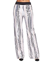Women's Sequin High Waisted Bell Bottom Pants