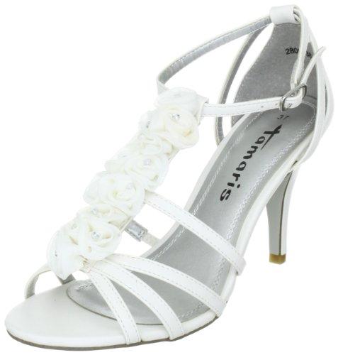Tamaris Black, WoMen Sandals Weiss (White 100)
