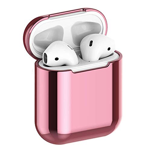 JuQBanke Compatible for AirPod Case,Airpod Skin,Airpod Accessories Shockproof Protective case Cover Silicone Skin for Apple AirPods Charging Case,Rose Gold