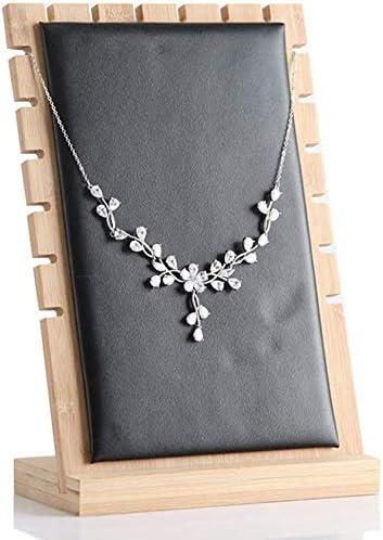 MOOUK Bambú Collar Soporte Expositor, Joyería Mesa Pantalla Tablas ...