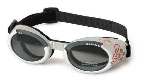 Doggles ILS Dog Goggle sunglasses with Skull and Crossbones / Smoke Lens Extra Small