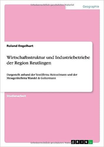 Ebooks online herunterladen Wirtschaftsstruktur Und Industriebetriebe Der Region Reutlingen (German Edition) in German PDF CHM ePub