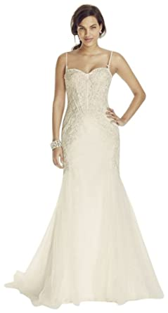c3edcb194957 Sample: Spaghetti Strap Trumpet Gown with Corset Bodice Style AI26030107,  Ivory, 6
