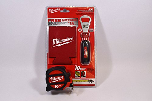 Milwaukee 48-22-5116p Tape Measure Pack With 2 Can Coolers And Bottle Opener