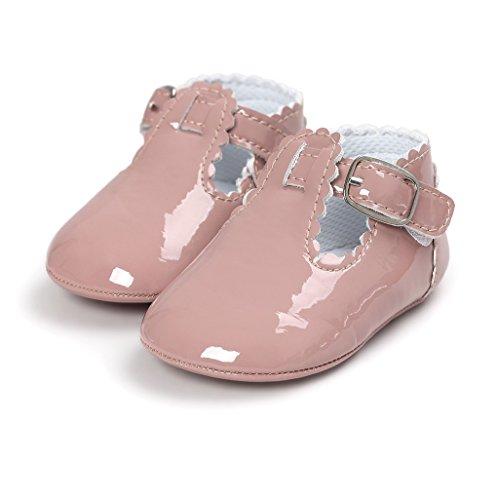 Primeros zapatos para caminar,Auxma La princesa del bebé Sola suave calza las zapatillas de deporte del niño Zapatos ocasionales Albaricoque púrpura