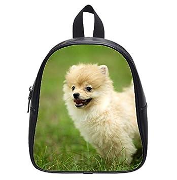 Amazon Com Lovely Pomeranian Puppy Dog Wallpaper Backpack Kid S