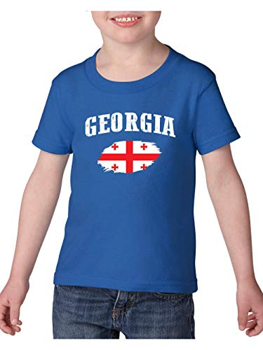 Georgia Proud Home Atlanta Traveler`s Gift Toddler Heavy Cotton Kids Tee (4TRB) Royal -