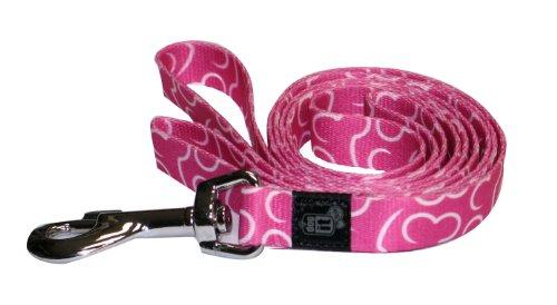 Dogit Style Bones Medium Nylon Leash, 5/8-Inch x 6-Feet, Pink, My Pet Supplies