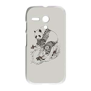 Panda and Follow Fish Motorola G Cell Phone Case White JU0043944