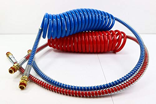 Power ProductsTM Coiled Air Sets Coiled Set Red & Blue. Working Length - 15 ft Pigtail Length - 40 in Valve Ends
