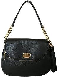 Michael Kors Bedford Medium Tassel Crossbody Leather Bag - Black