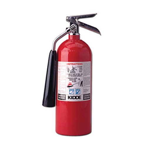 Kidde 466181 Pro 10 Carbon Dioxide Fire Extinguisher, Electronic Safe, Environmentally Safe, UL Rated 10-B:C (Co2 Extinguisher)
