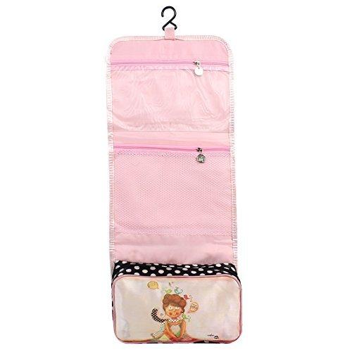 Amazon.com: eDealMax Señora Higiene Lavado plegable cuelga la cosmética rosada del almacenaje del bolso: Health & Personal Care