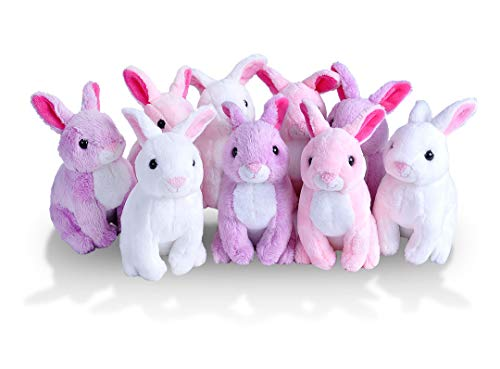 Wild Republic Rabbit Plush, Stuffed Animals, Baby Easter Basket, Easter Eggs, Party Favors, 9Piece ()