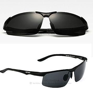 Polaroid Gafas de sol Hombre Polarizadas de conducción deportes gafas gafas Polit gafas - negro: Amazon.es: Deportes y aire libre