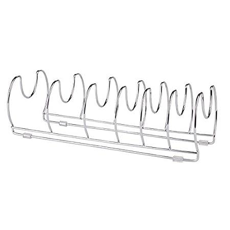 vielseitiger Geschirrst/änder 2er Set verchromtes Metall mDesign Pfannenhalter praktischer Topfdeckelhalter