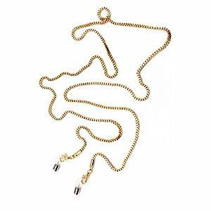 Metal Eyeglass Chains Holder Glasses Holder Sunglass Cord Neck Strap (Golden)