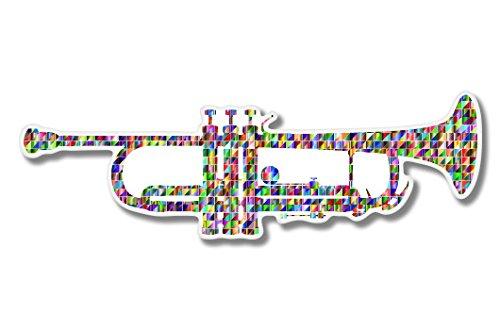 - Trumpet Colorful Vinyl Sticker - Car Phone Helmet - SELECT SIZE