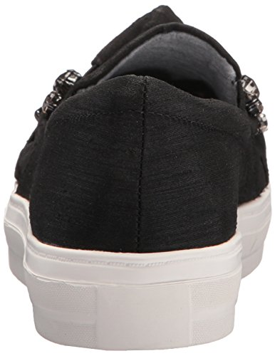 Nine Women's Black Orenda Fabric Flat Loafer West 11rqHf4